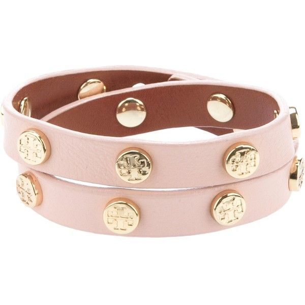 TORY BURCH studded bracelet ($94) ❤ liked on Polyvore featuring jewelry, bracelets, tory burch jewelry, tory burch, snap button jewelry, leather bangle y leather jewelry