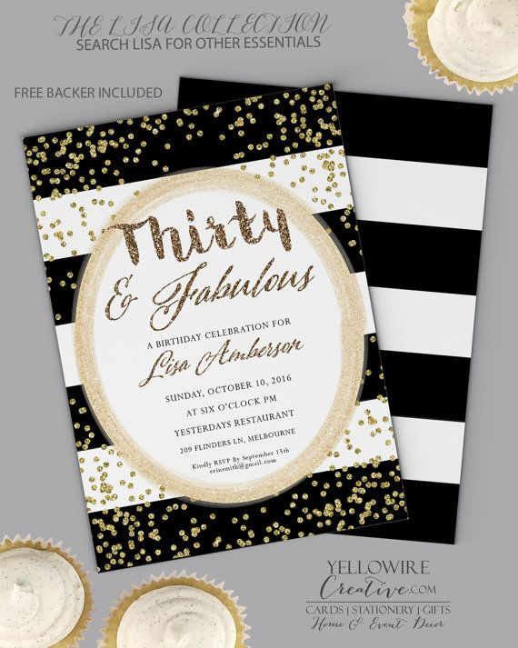 30th Birthday Invitation dirty thirty  30th by GoldenGoosePaper