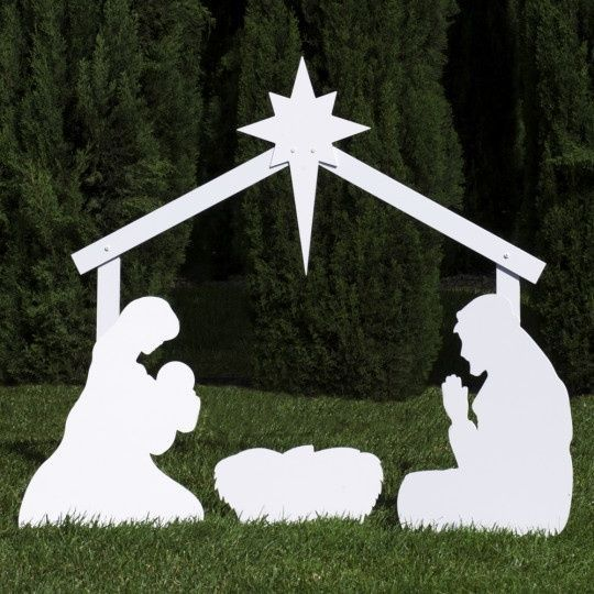 Outfoor Nativity Store Silhouette Outdoor Nativity Set - Holy Family Yard Scene