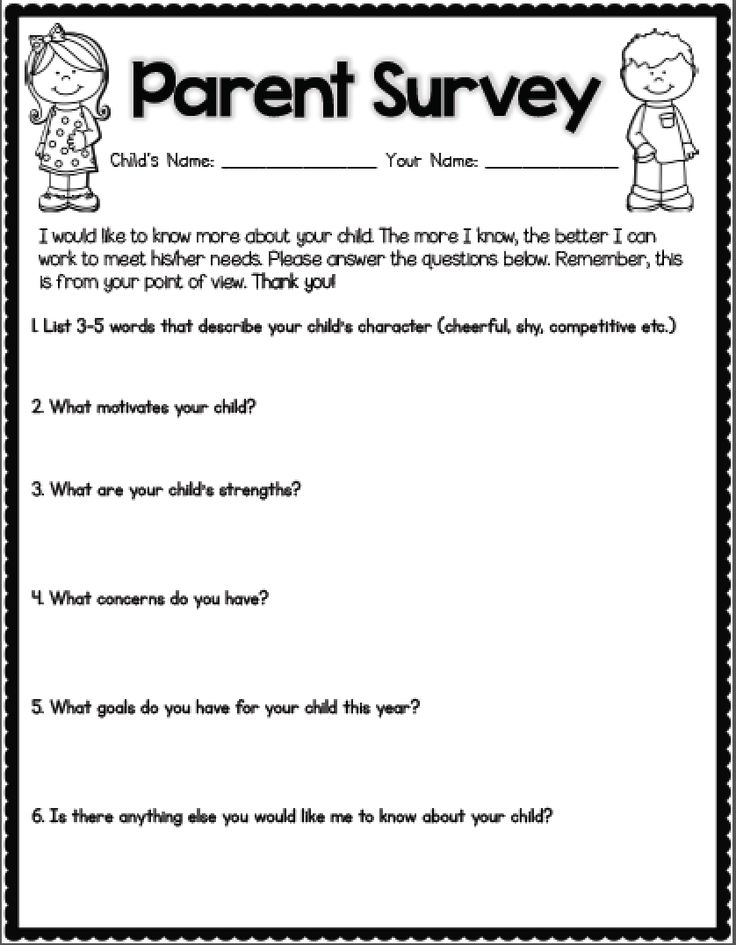 Best 25+ Parent survey ideas on Pinterest 1st year teachers - feedback survey template