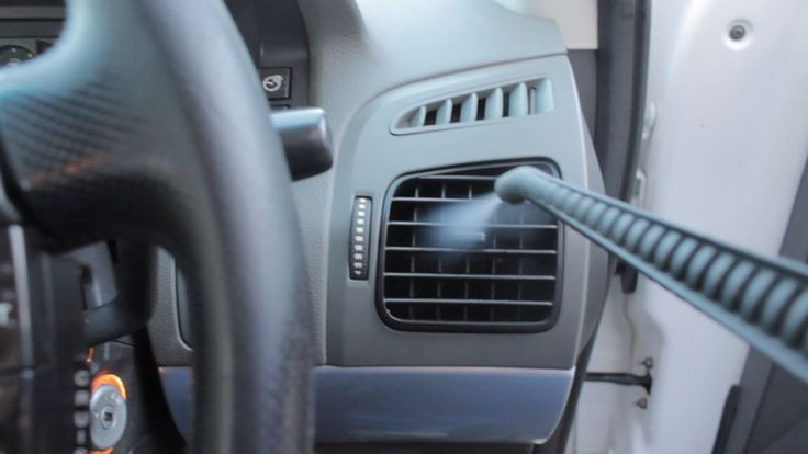 air conditioning vent cleaning with steam vapour in a car interior application for more. Black Bedroom Furniture Sets. Home Design Ideas