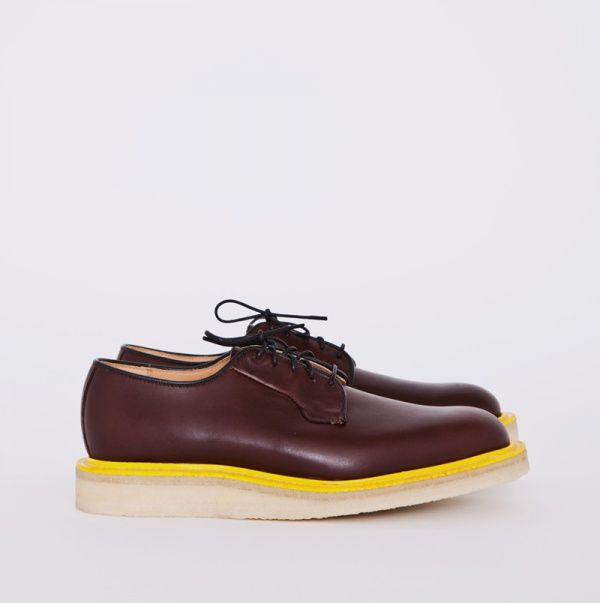 Mark McNairy Très Bien Shop Brown Waxy Wholecut Derby Shoe