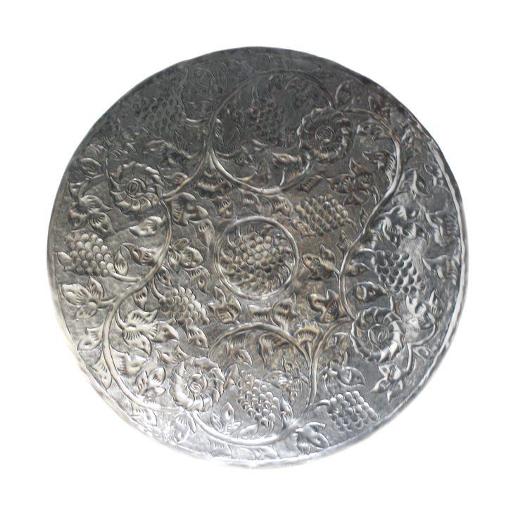 Fetco Home Decor Nirav Etched Metal Disc Wall Decor
