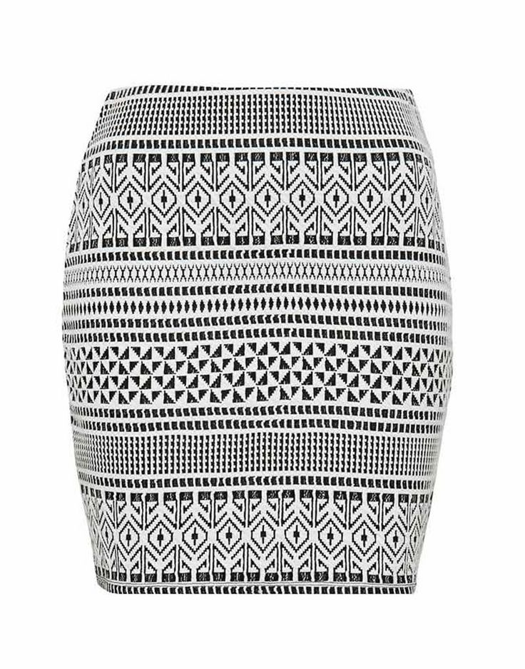 FOREVER NEW | Gianna Geometric Jacquard Bodycon Skirt - Women - Style36