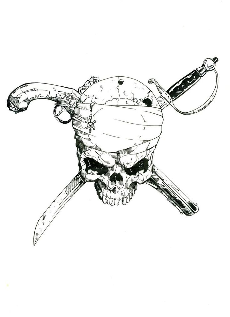 Super Pirate Skull by wiskybb64