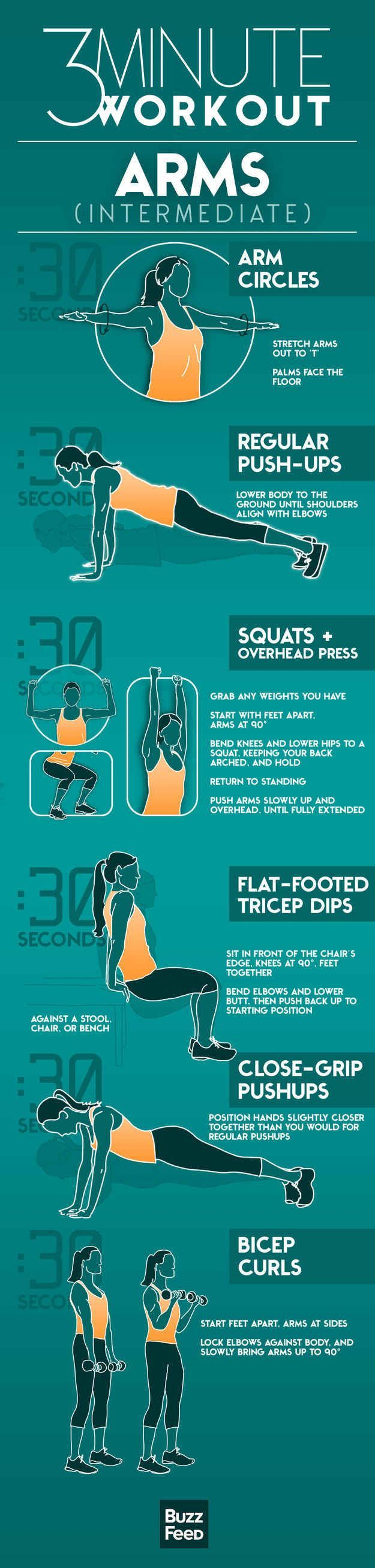 3 minutos entrenamiento de brazos (Intermedio)  -   3 minute worlout arms (Intermediate)