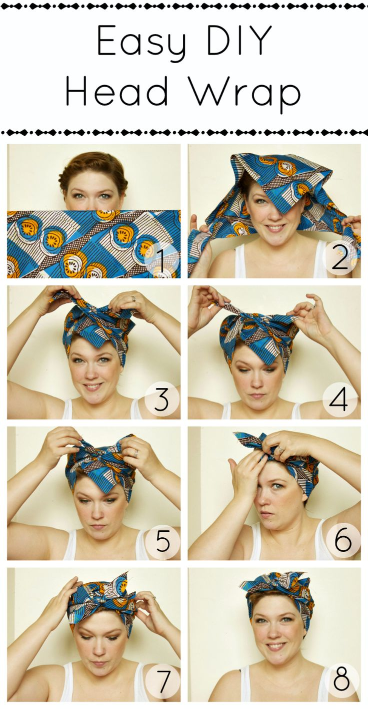 Easy DIY head wrap. Ah-ha!
