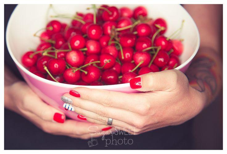 #Nails by Nagelstudio Prestige Fahimeh, Bonn; #Photo by Sugarsweet-Photo, Bonn; #Cherry #rednails; #tattoo by #Tintenstich Bonn, #Fingernägel