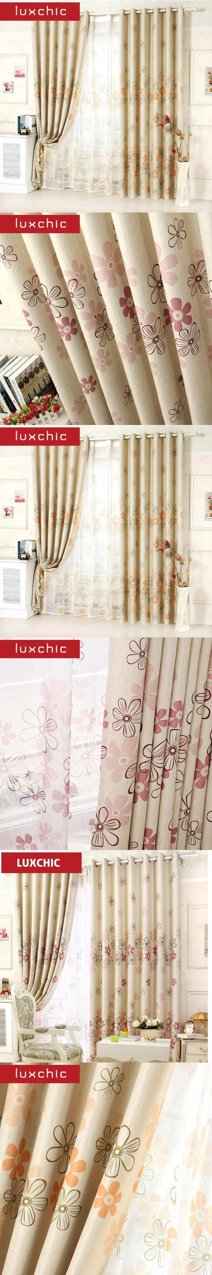 Modern Curtains Blackout Curtains for Living Room Kids Curtains for Bedroom  Window Treatment Purple/Orange