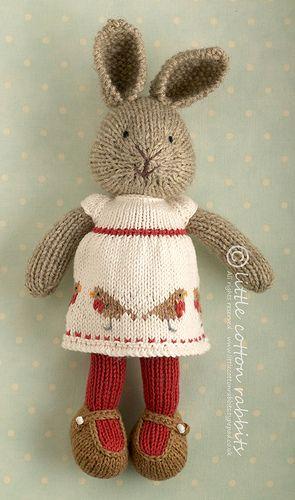 Avalyn, a knitted rabbit   littlecottonrabbits, via Flickr