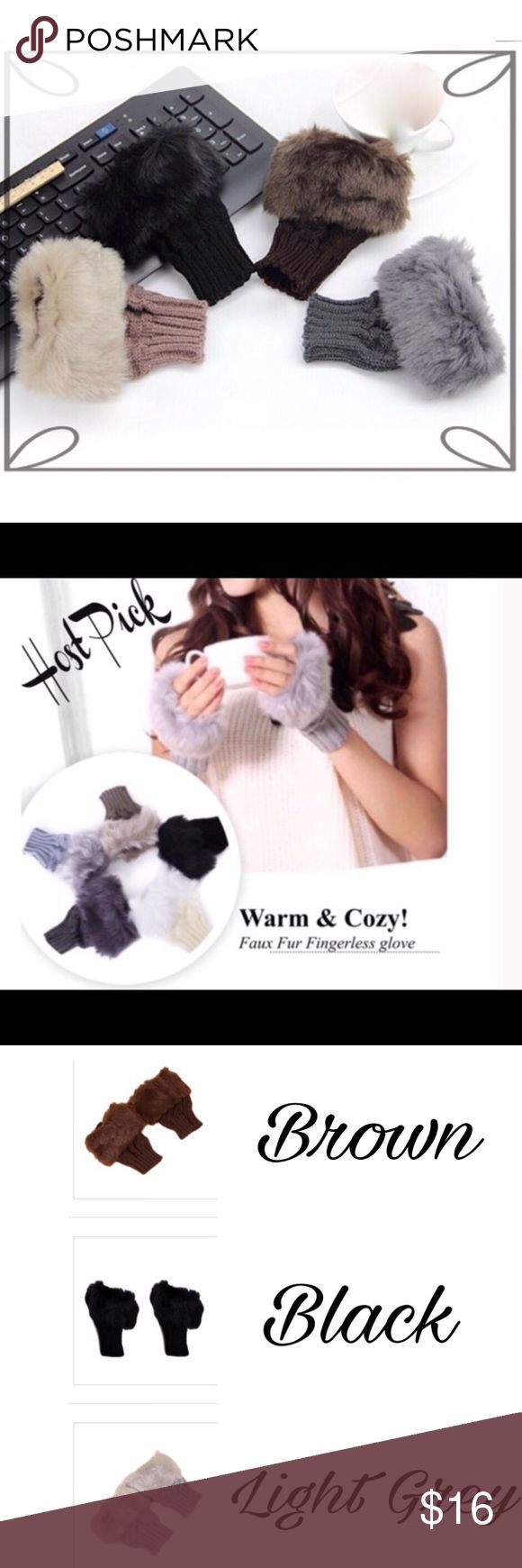 Fingerless gloves eso - Warm And Cozy Faux Fur Fingerless Gloves Boutique