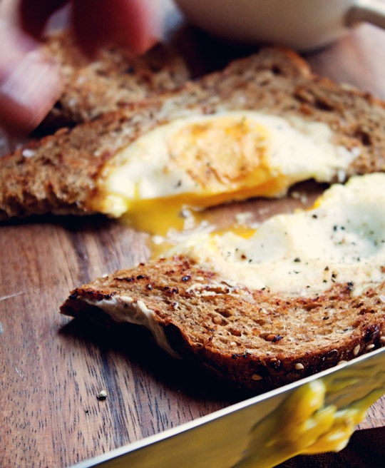 Egg in a Basket from Joy of Oh Joy!: Breakfast with a Blogger