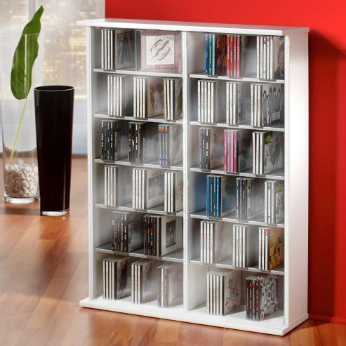 buy vcm ronul cd dvd storage tower white from our cd u0026 dvd storage