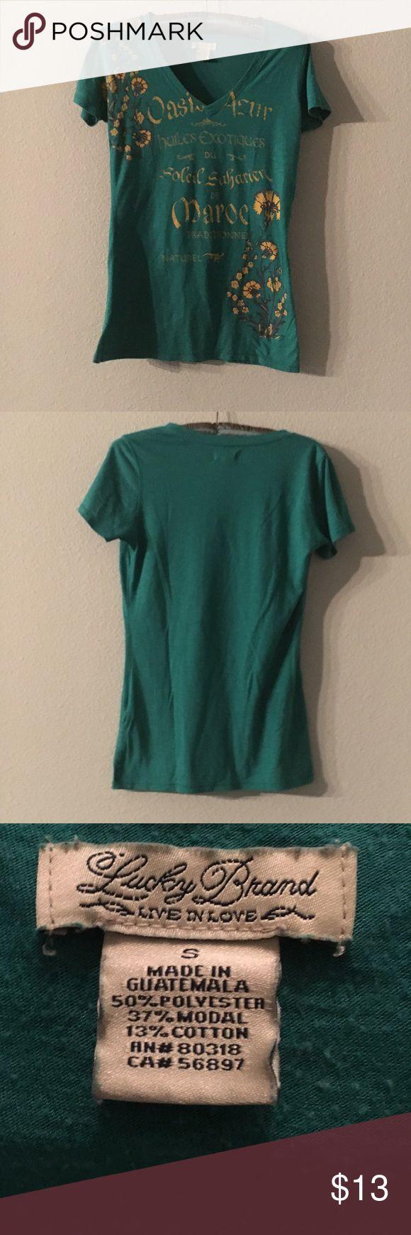Lucky Brand T-shirt Green Lucky Brand T-shirt seeks new home Lucky Brand Tops Tees - Short Sleeve