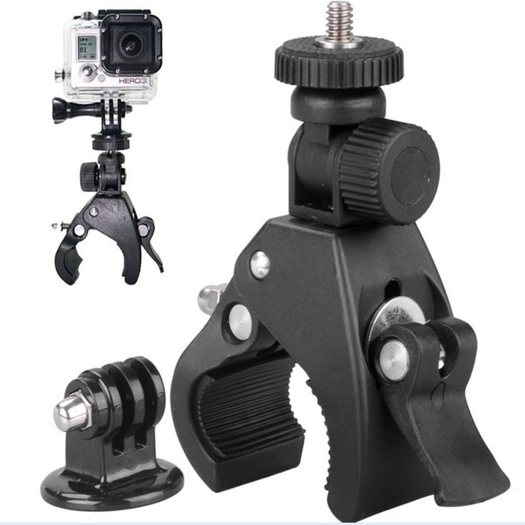 Hot GP73 GoPro mounting accessories motorcycle bike handlebar + GoPro camera tripod adapter Hero4 / 3 Go Pro sj4000
