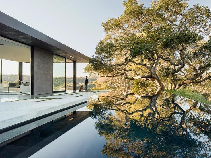Oak Pass Residence in Beverly Hills Surrounded by Lush Vegetation - http://freshome.com/oak-pass-residence-in-beverly-hills-surrounded-by-lush-vegetation