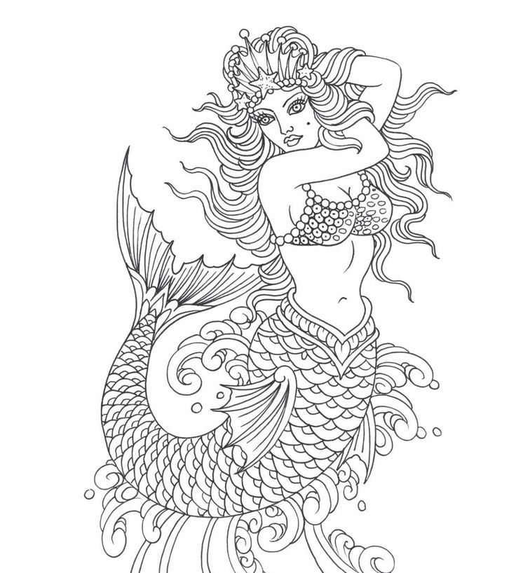y8 coloring mermaid pages - photo#13