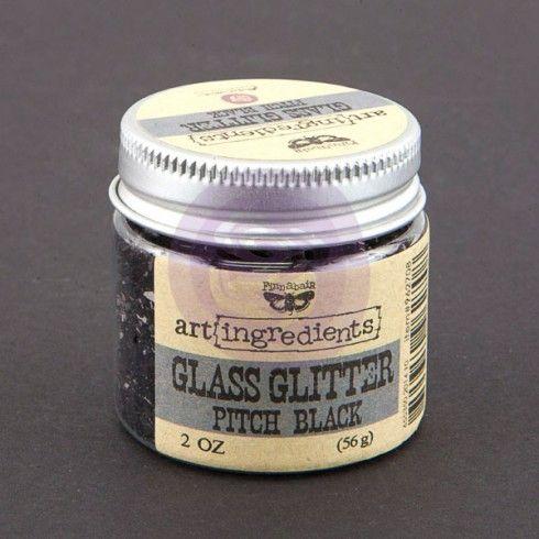 Prima - art ingredients glass glitter pitch black