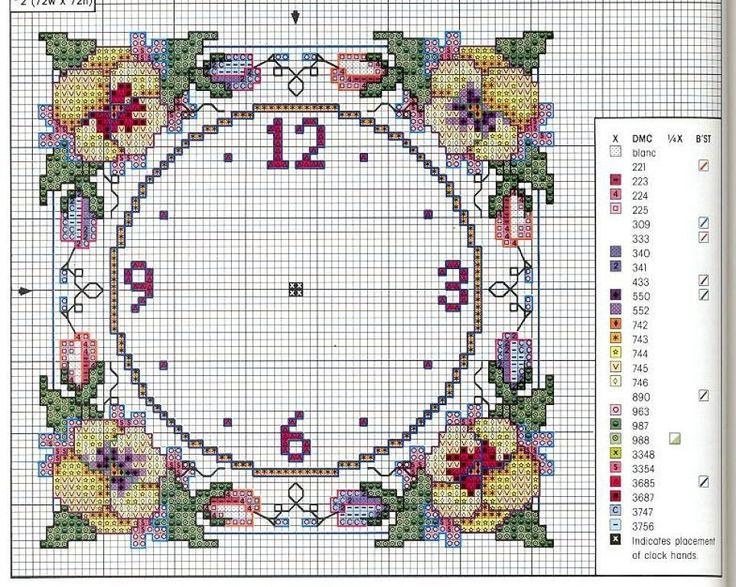 Relojes en punto de cruz (pág. 32)   Aprender manualidades es facilisimo.com