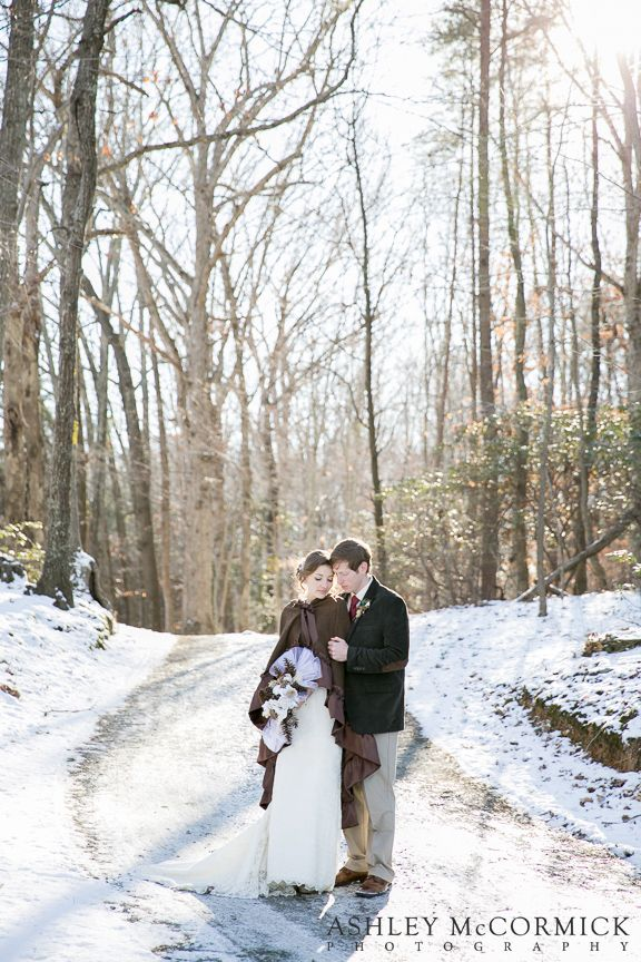 Snowy Winter Wedding | Ashley McCormick Photography