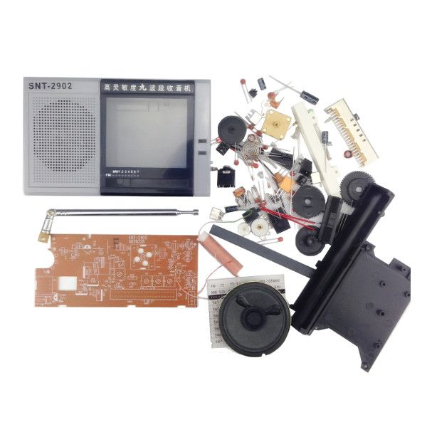 DIY EDT-2902 Kit de entrenamiento de producción electrónica multibanda Radio Kit