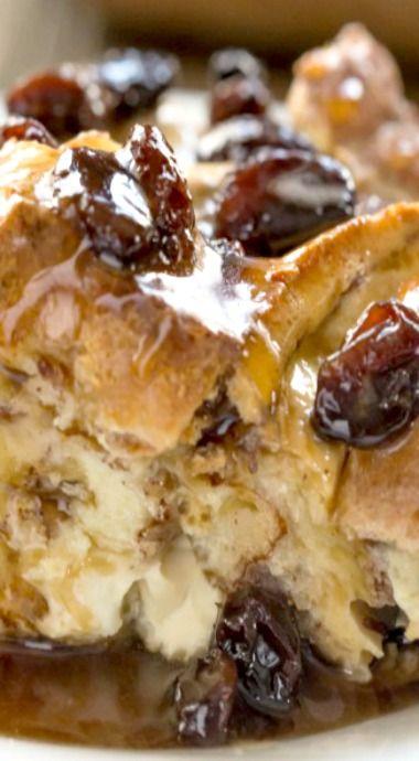 Cinnamon Swirl Bread Pudding with Maple Rum Raisin Sauce