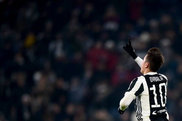 Paulo Dybala of Juventus FC celebrates after scoring a goal during the TIM Cup football match between Juventus FC and Genoa CFC Juventus FC won 20...