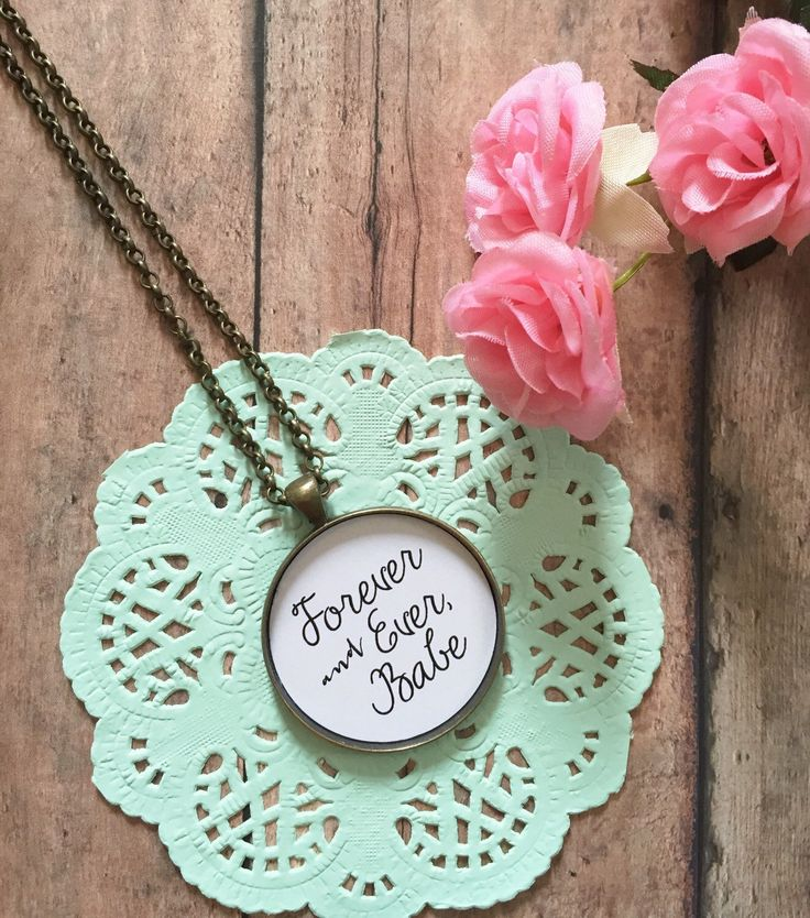 Bride Gift from Groom,Forever and Ever Babe,Wife Birthday Gift,Wife Christmas,Best Friend Necklace,Girlfriend Present,You're My Person by MinMac on Etsy https://www.etsy.com/listing/220593188/bride-gift-from-groomforever-and-ever