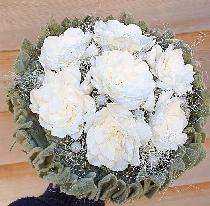#stabilized #white #gardenia #flowers #wedding #bouquet #Flowers4you