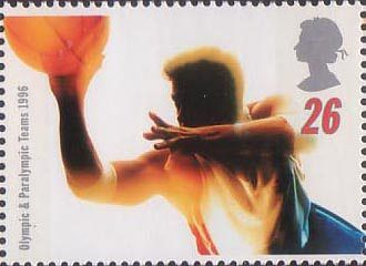 Swifter, Higher, Stronger - Olympic and Paralympic Games, Atlanta 26p Stamp (1996) Basketball