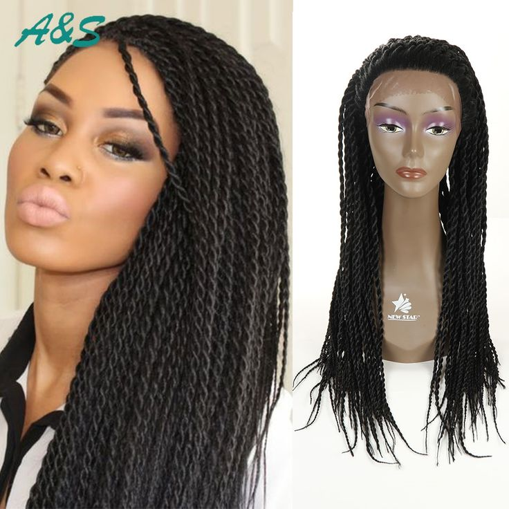 61.20$  Buy here - http://alixpi.worldwells.pw/go.php?t=32776018254 - Hot Hot Hot Overwatch Senegalese Hairstyle Synthetic Lace Wigs Pelucas Sinteticas Braided Lace Front Wigs With Baby Hair Jant  61.20$