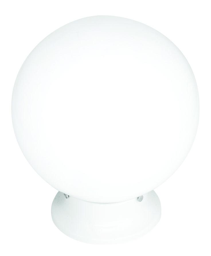 "Sphere 8"" DIY Glass Ball in White"