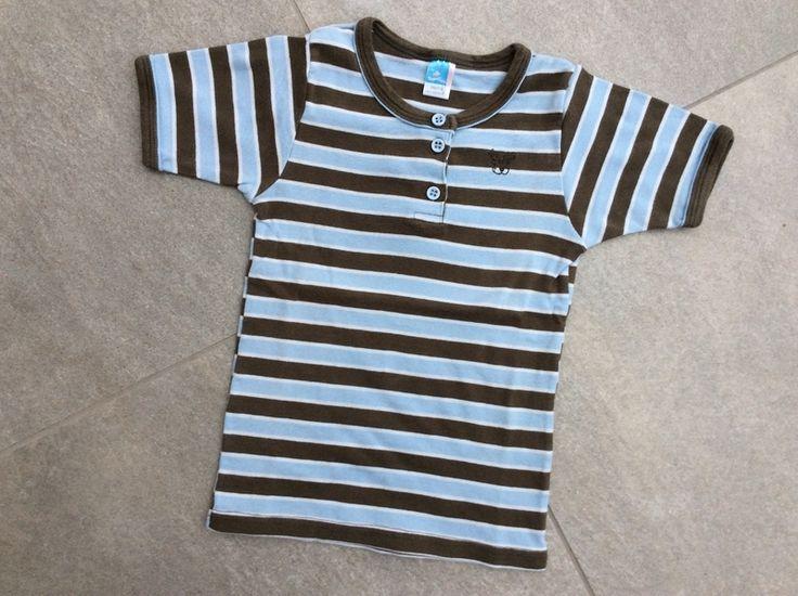 Mein Süßes Topolino Unterhemd mit kurzen Ärmeln braun-blau-weiß gestreift / Gr. 110/116 von Topolino! Größe 110 für 4,20 €. Schau´s dir an: http://www.mamikreisel.de/kleidung-fur-jungs/unterwasche/33159452-susses-topolino-unterhemd-mit-kurzen-armeln-braun-blau-weiss-gestreift-gr-110116.
