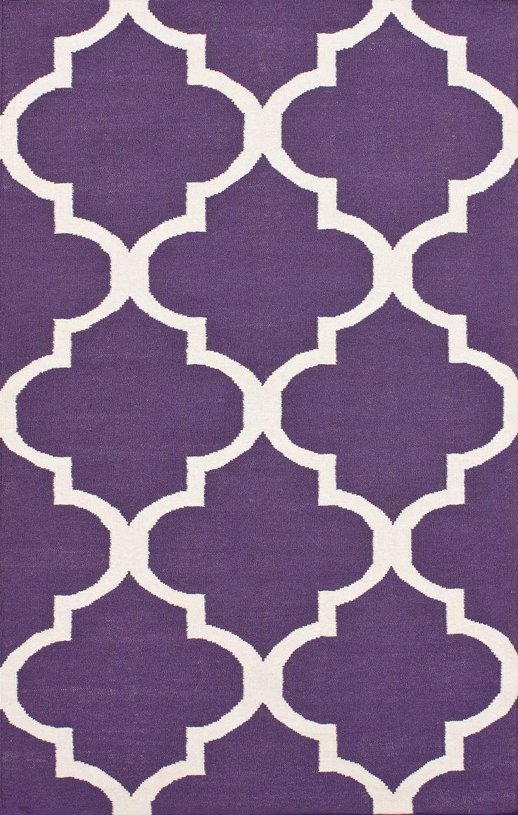 Purple Rugs with Geometric Patterns - Purple Bedroom Ideas