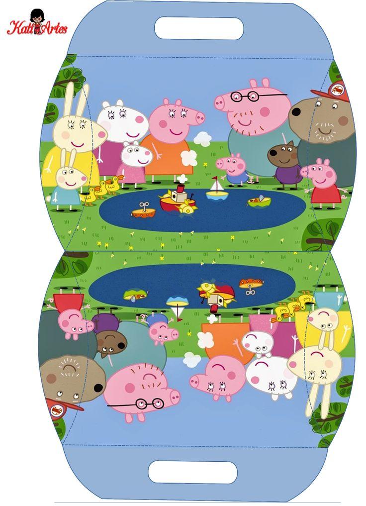 Peppa Pig: Caja Almohada para Imprimir Gratis. | Ideas y material gratis para fiestas y celebraciones Oh My Fiesta!