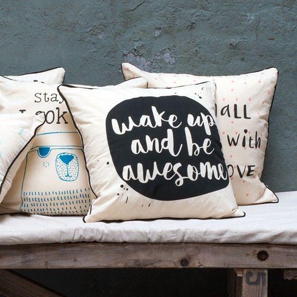 Pillowcases that help brighten up the day. 40x40 cm. Price DKK 22,80 / SEK 29,90 / NOK 29,80 / EUR 3,19 / ISK 654 / GBP 2.56  #owndesign #pillowcases #wakeupandbeawesome #interior #decoration #inspiration #sostrenegrene #søstrenegrene #grenehome