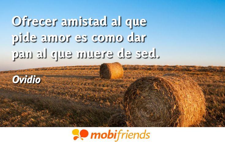 Ofrecer amistad al que pide amor es como dar pan al que muere de sed.