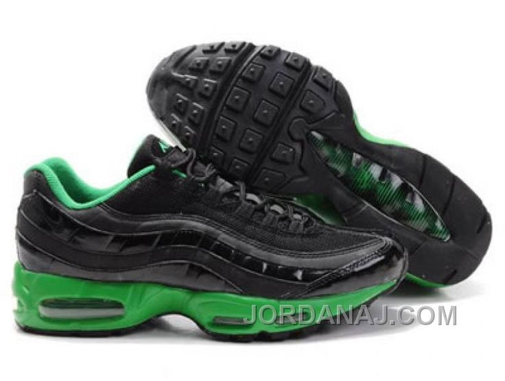 Best Drop Shipping Nike Air Max 95 KPU Mens Running shoes Gray black fluorescent green