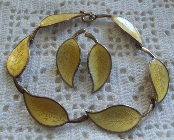 Vintage armband oorbel Set Deense Meka Sterling door MariaMarrese