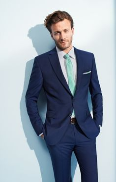 navy suit mint tie - I like the blue tie | Raddest Men's Fashion Looks On The Internet: http://www.raddestlooks.org