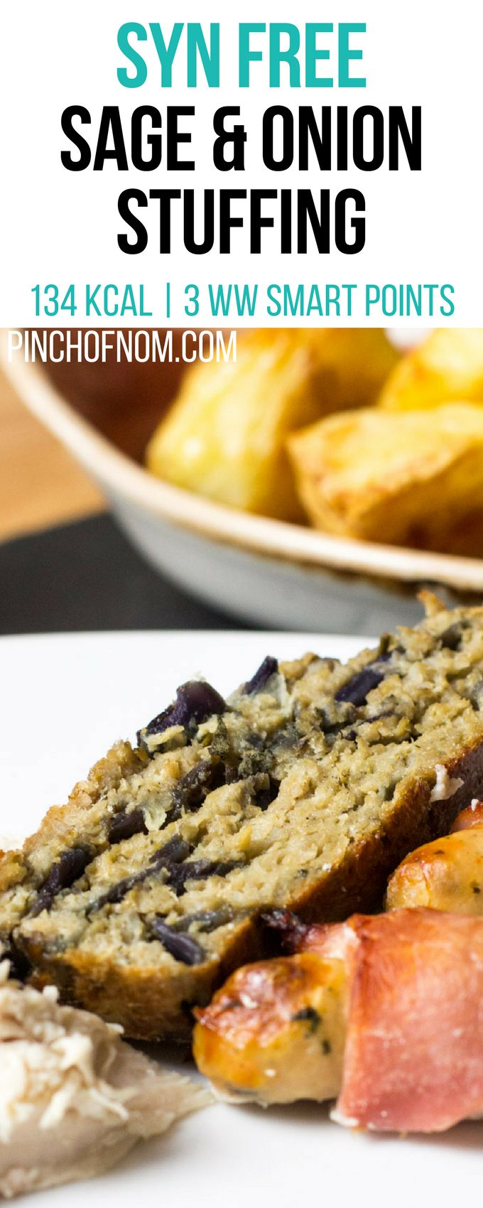 Syn Free Sage And Onion Stuffing | Pinch Of Nom Slimming World Recipes 134 kcal | Syn Free | 3 Weight Watchers Smart Points