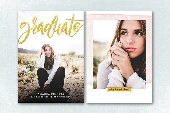 Senior Graduation Announcement 045 by Salsal Design on @creativemarket