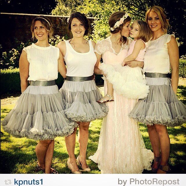 Doris Designs petticoats - beautiful bridesmaids #petticoats