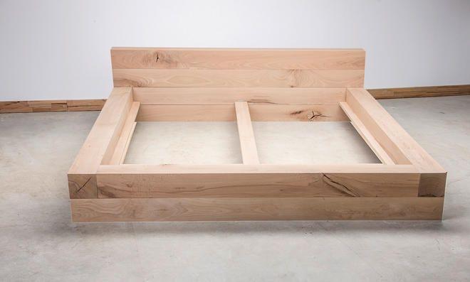 Balkenbett Selbst De Bett Bauen Diy Bett Bett Selber Bauen