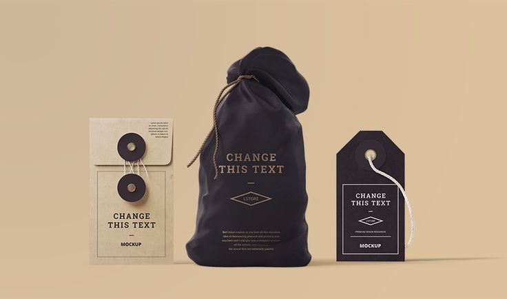 Free Sample Scene Branding Mockup (Bag, Envelope, Tag) - GraphicArmy