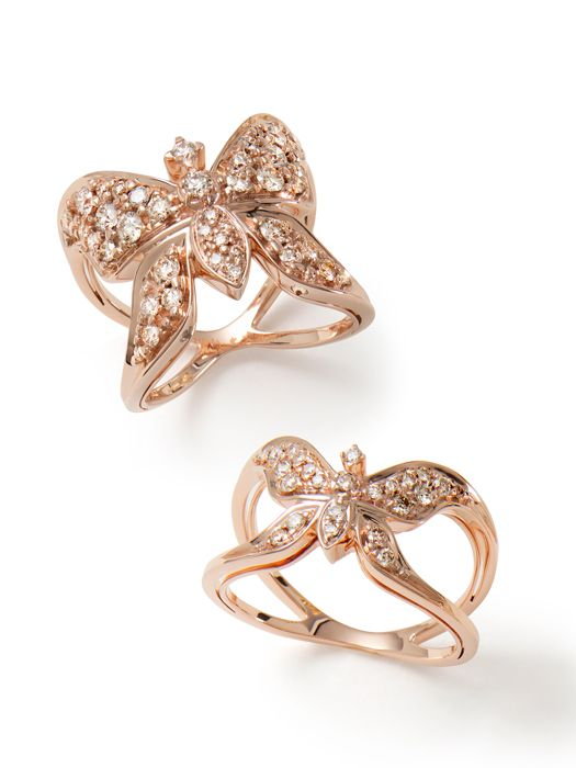 Rings in 18K rosé gold and diamonds. H.Stern Rock Season collection.