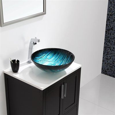 glass bowl sink installation vessel such unique inspired peaks exploded single vanity with