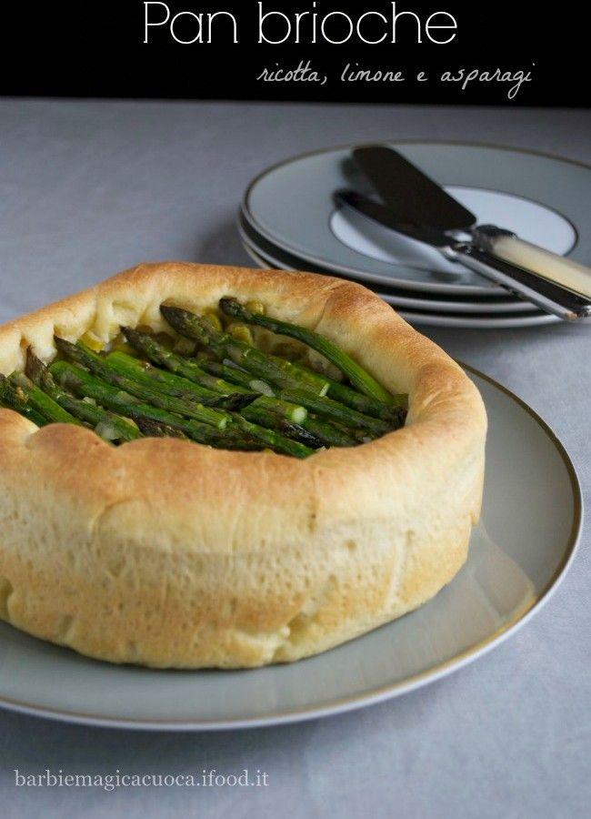 pan brioche ricotta e asparagi