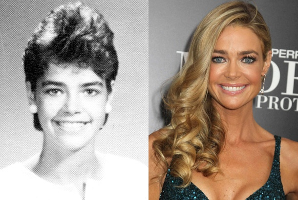 Denise Richards, Freshman Yearbook Photo at Tinley Park High School in Illinois, 1986