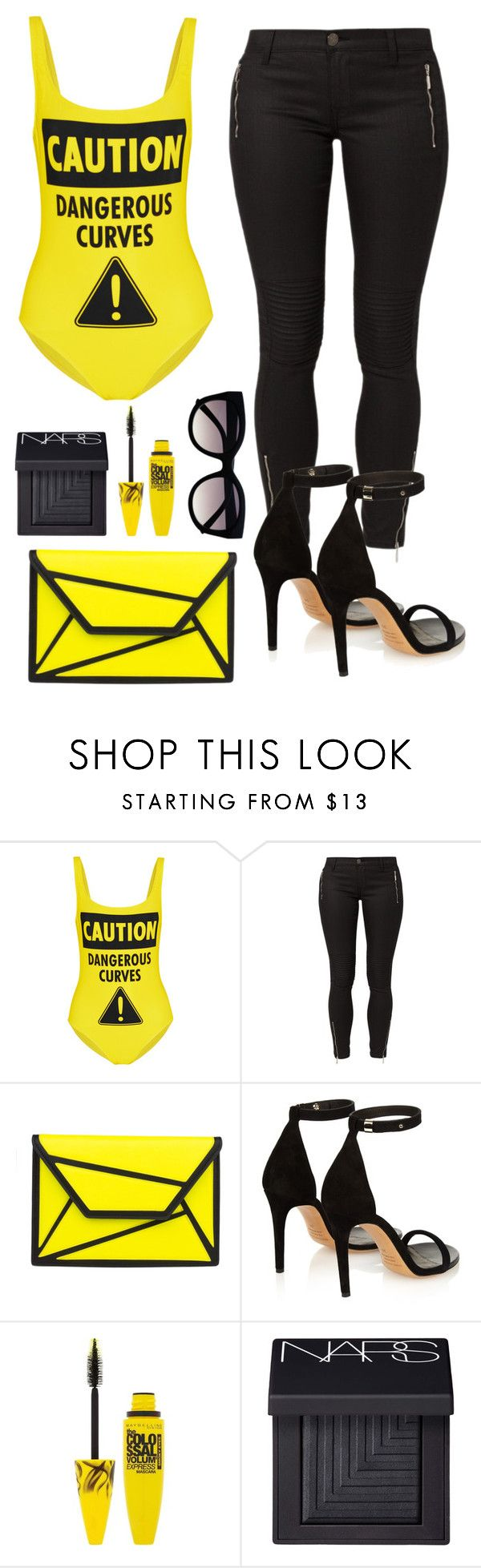 """""""#Curves"""" by perichaze ❤ liked on Polyvore featuring Moschino, True Religion, Isabel Marant, Maybelline, NARS Cosmetics, women's clothing, women, female, woman and misses"""
